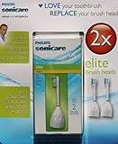 Philips Sonicare x 2 Elite Brush Heads, standard HX7002