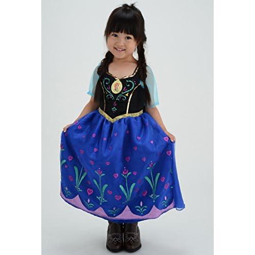 ⇒歌が流れる! ディズニーアナと雪の女王 光る!ミュージカルドレス アナ100-110cm