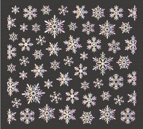 ビーエヌ(BN) スノーラバーアート(雪の結晶/オーロラ箔) パッケージなし ネイルシール