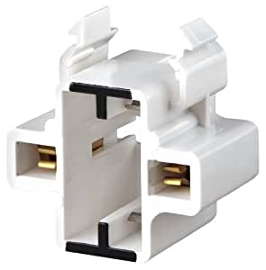 Leviton 26720-100 Gx23, Gx23-2 Base, 2-Pin, Compact Fluorescent Lampholder