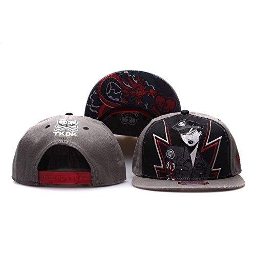 Lishuwan-YP Unisex Adjustable Fashion Leisure Baseball Hat Tokidoki Courtside Snapback Dual Colour Cap