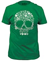 Clover Skull Funny Irish St. Patrick's Day T-Shirt - Green
