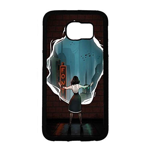 Samsung Galaxy S6 Cover FPS Gioco Bioshock Serie 3d, motivo caldo Game Bioshock Infinite cover rigida PC Cell Shell per Samsung Galaxy S6