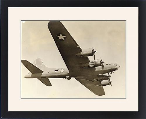 Framed Artwork of Boeing B-17F Flying Fortress in flight