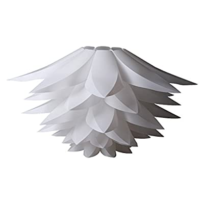 Excelvan DIY Kit Lotus Chandelier IQ PP Pendant Lampshade Suspension Ceiling Pendant Chandelier Light Shade Lamp For Holiday,Living Room,Bedroom,Study,Dining room Decor Lighting