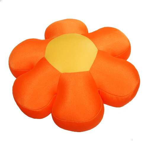 Dada Bedding Tts2527B Decorative Flower Cushion Pillow, Orange front-914325