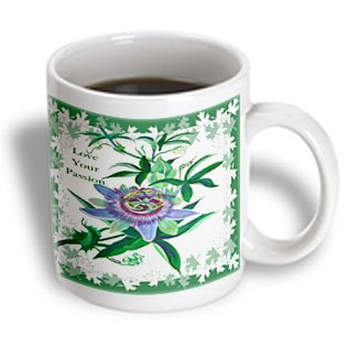 Taiche - Greeting Card - Love Your Passion - Passion Flower- Gifts For Gardeners, Birthday, Mothers Day, Gift Ideas, Wildflower, Tennessee - 11Oz Mug (Mug_78728_1)