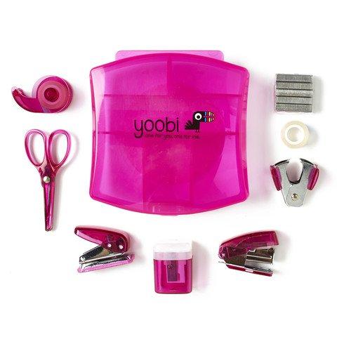 Desk Mini Supply Kit-Pink by Yoobi (Mini Tape Dispenser compare prices)