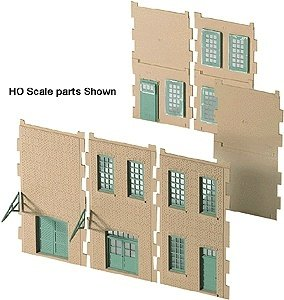 Walthers Cornerstone Series N Scale Modulars Small Walls, Windows & Doors (933-3281) - 1