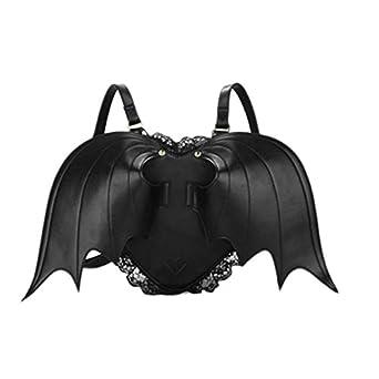 Hot black bat heart backpack wing gothic goth punk lace lolita visual kei bag
