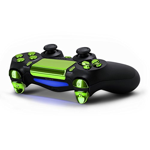 kwmobile-tasti-di-alluminio-per-playstation-4-in-verde-4-dualshock-2-thumbstick-1-pad-direzionale
