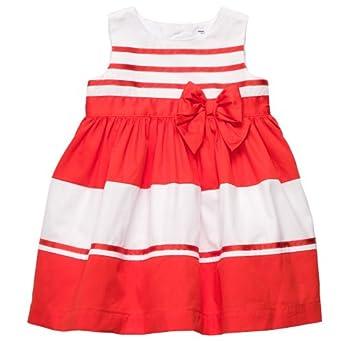 Amazon.com: Carters 2-pc. Stripe Bow Dress Set RED 24 Mo