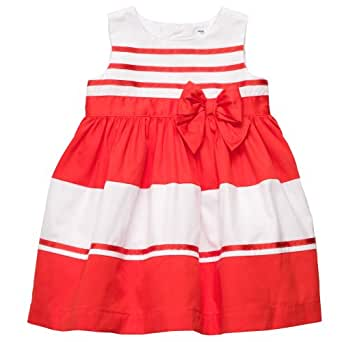 Amazon.com: Carters 2-pc. Stripe Bow Dress Set RED 24 Mo: Infant And