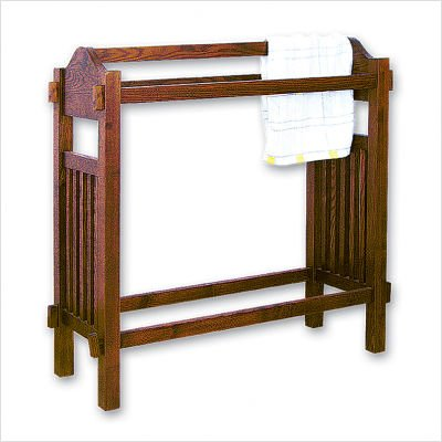 Mission Oak Quilt Rack Stand