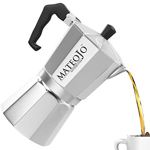 Industrial Cuban Coffee Maker : Stovetop Espresso Maker - Italian Moka Pot - Cafetera - Cuban Coffee Machine - 6 Cups by MateoJo ...