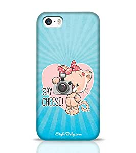 Style baby Say Cheese Blue Apple iPhone 5S Phone Case