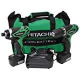 Hitachi KC10DFL 12-Volt Peak 3-Tool Li-Ion Combo Kit with Carrying Bag
