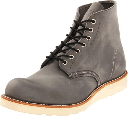 Red Wing Heritage Men's 6 Inch Round Toe Boot,Grey Rough & T