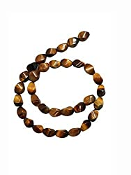 Brown Honey Marble Stone Bead Strand (50 Piece)