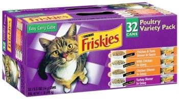 Cat Supplies Friskies Poulty Variety Pack