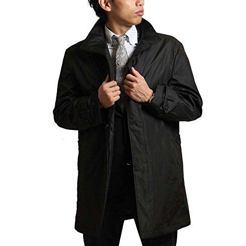 PETER LUGER(ピーター・ルーガー)中綿入りボンディング素材スタンドカラーコート 中綿入りジャンバー 秋冬 撥水加工 防寒 ビジネス 保温性 メンズ