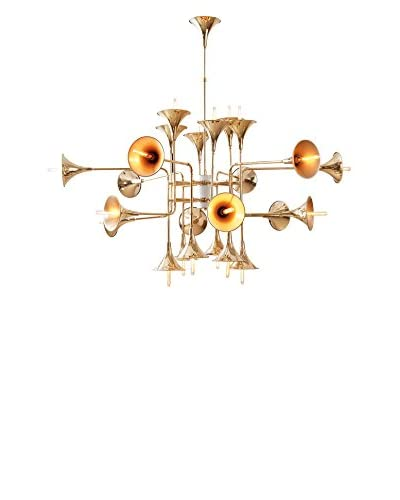 """Control Brand The Trumpet 24-Light 70"""" Chandelier, Gold"""