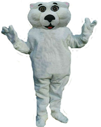 Mascots USA by CJs Huggables Custom Pro Low Cost Polar Bear Mascot Costume