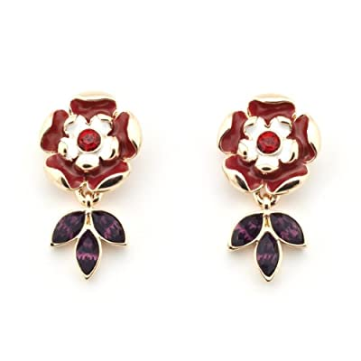 Tudor Rose Earrings by Bill Skinner||EVAEX