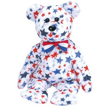 Ty Beanie Babies - Red, White & Blue the Bear - 1
