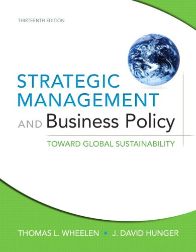 Strategic Management and Business Policy: Toward