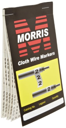 Morris Products 21260 Wire Marker Booklet, Cloth, A-Z,0-15,+-/ Markings
