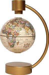 Stella Nova Political Antique Ocean Levitating Globe, 4-Inch