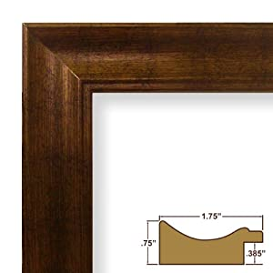 """7x10 Picture / Poster Frame, Smooth Distressed Finish, 1.75"""" Wide, Copper and Black (22605844)"""