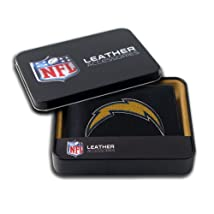 NFL San Diego Chargers Embroidered Genuine Cowhide Leather Billfold Wallet