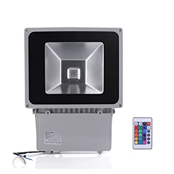 100W RGB Flood Light - TDLTEK 100W RGB Color Changing LED