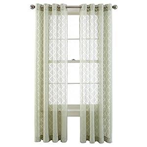 Royal Velvet Adair Sheer Grommet Top Curtain Panel A Pair Of 2 Panels 50 X 84 Sea
