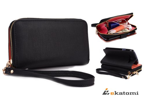 On-the-go EPI leather like material lady wallet