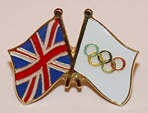 Olympic Flag and United Kingdom Union Jack Friendship Flag