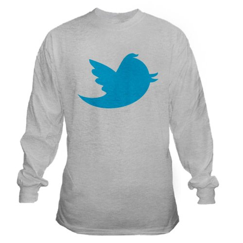 Twitter Nerd Long Sleeve T-Shirt by CafePress – L Ash Grey