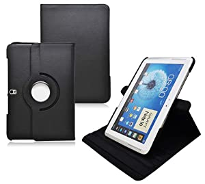 COD Stand Leather Case For Samsung Galaxy Note 10.1 2014 Edition Tablet (Black)