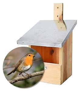jardi depot nichoirs pour oiseaux nichoir rouge gorge animalerie. Black Bedroom Furniture Sets. Home Design Ideas