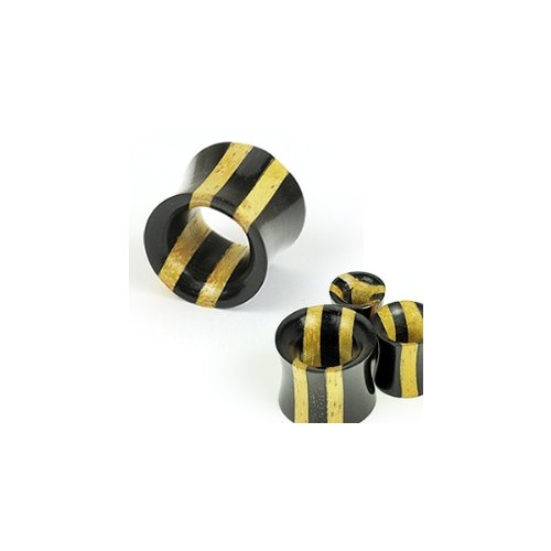 Urban Body Jewellery Pair Of Ebony Areng & Jackfruit Wood Ear Stretching Flesh Tunnels 12mm