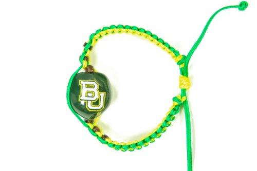 NCAA Baylor Bears Go Nuts Kukui Nut Macrame Bracelet