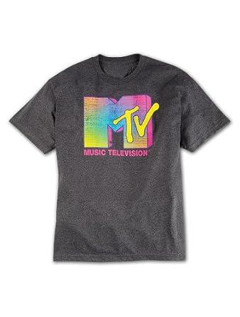 MTV Neon Logo Big & Tall Short Sleeve Graphic T-Shirt