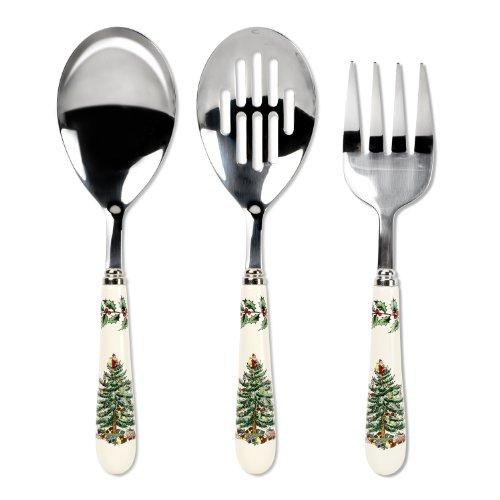 Spode Christmas Tree 3-Piece Flatware Serving Set Spode Christmas Tree Giftware