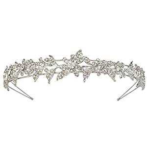 Ever Faith Silver-Tone Austrian Crystal Elegant Bridesmaid Flower Hair Band Clear A07599-1