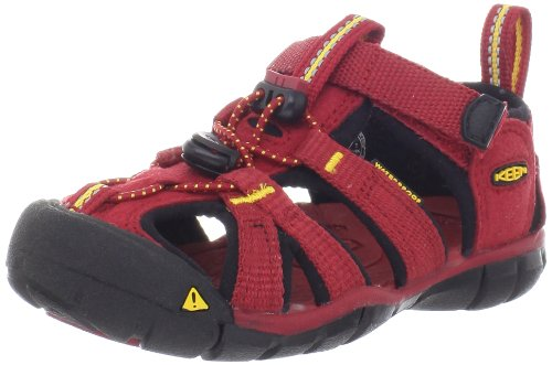 KEEN Seacamp CNX Sandal (Toddler/Little Kid/Big Kid),Chili Pepper/Dark Shadow,9 M US Toddler