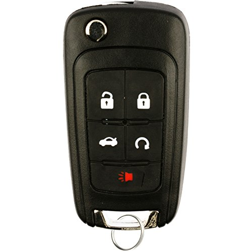 KeylessOption Keyless Entry Car Remote Uncut Flip Key Fob Replacement for OHT01060512 (2010 Camaro Key compare prices)