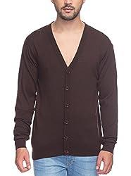 Raymond Men's Woolen Sweater (8907252513666_RMWX00367-O7_42_Brown)