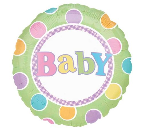 """New Baby Large 18"""" Round Mylar Foil Balloon - Baby Boy Or Girl Shower"""